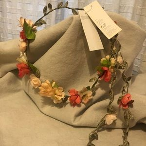 Renaissance flower crown with strand.